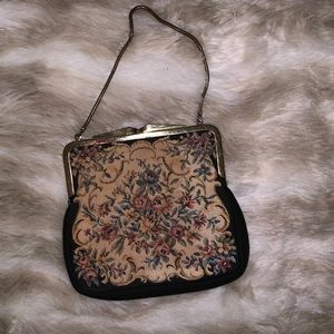 VINTAGE Tapestry Purse made in Western Germany